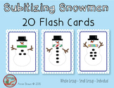Subitizing Snowmen Flash Cards