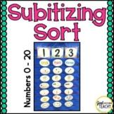Subitizing Sort - Numbers 0-10