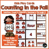 Subitizing Cards | 1 - 5 Math Activity | Fall
