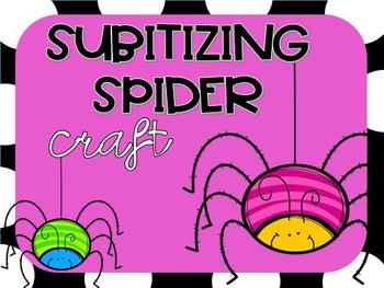 Subitizing Spider Craft