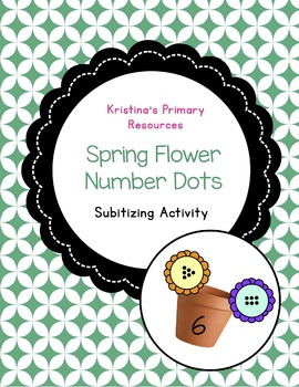 Subitizing Spring Flowers, Number Dots, Math Centre Activity