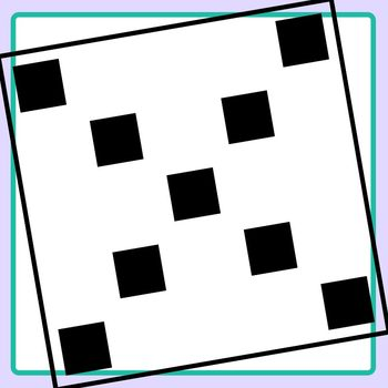 Subitizing Squares to Twenty Five Clip Art Set Commercial Use
