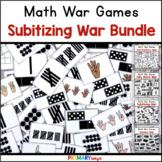 Subitizing Game and Number Sense War Game Bundle