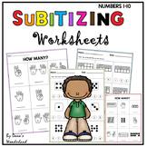Subitizing Worksheets Number Recognition 1-10