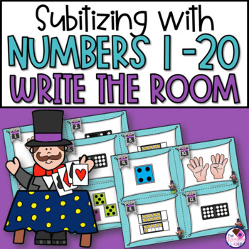 Subitizing Write the Room With Numbers 1-20