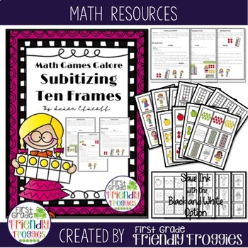 Math Centers - Subitizing and Ten Frame Games