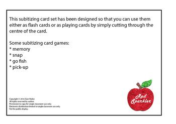 Subitizing cards 1-12