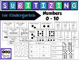 Subitizing - for Kindergarten