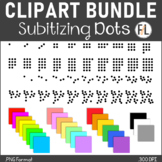 Subitizing or Counting Dots:  All Colors BUNDLE