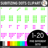 Subitizing or Counting Dots:  NEON Colors