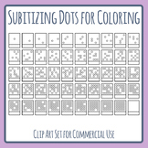 Subitizing to 25 - Cards for Coloring In - Estimation, Subitizing, Math Clip Art