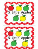 5 Little Apples (Subitizing to 5 Math Emergent Reader)