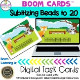 Subitizing with Beads to 20 Boom Cards