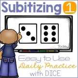 Subitizing with Dice