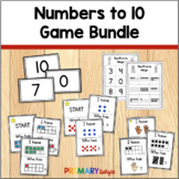 Subitizing with Numbers to 10 Game Bundle