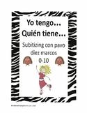 Subitizing with Turkey Ten Frames 0-10  - Yo tengo... Quién tiene...