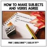 Subject Verb Agreement Practice