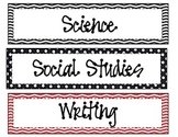 Subject Area Labels