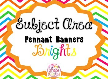 Subject Area Pennant Banners - Brights