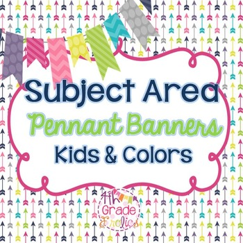 Subject Area Pennant Banners - Kids & Colors