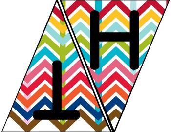 Subject Banner (Rainbow Chevron)