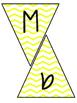 Classroom Subject Banners Yellow Chevron