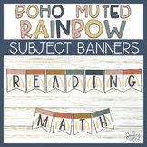 Subject Banners - Boho Rainbow Subject Banners