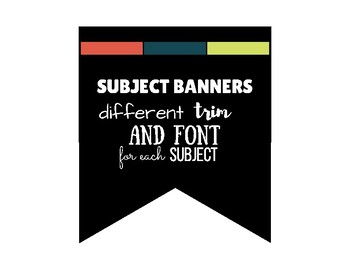 Subject Banners - Part One