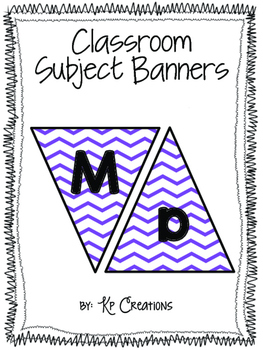 Subject Banners Purple Chevron