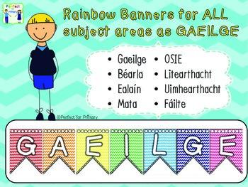 Subject Banners - as Gaeilge