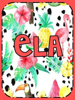 folder  Covers sheets (Flamingo and peach theme) classroom decor