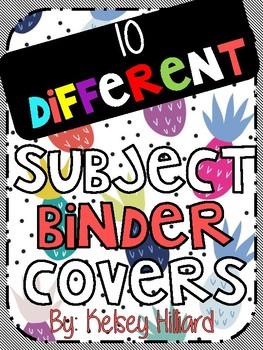 folder cover sheets (fun pineapple design) classroom decor