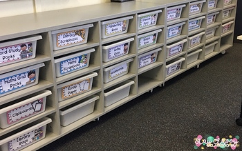 Subject Book Box and Tub Labels - Editable