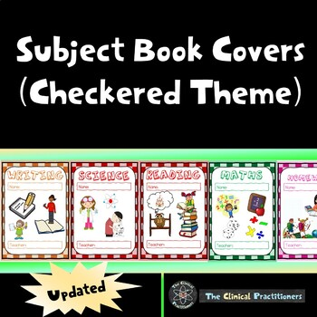 Subject Book Covers - Checkered Theme