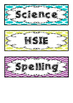 Subject Book Tub Labels