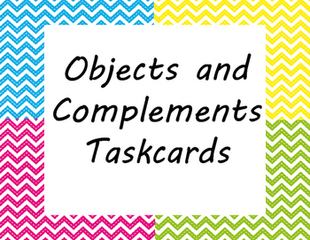 Subject Complement and Objects Taskcards