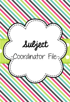 Subject Coordinator Binder
