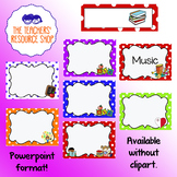 Subject Copybook and Book Labels