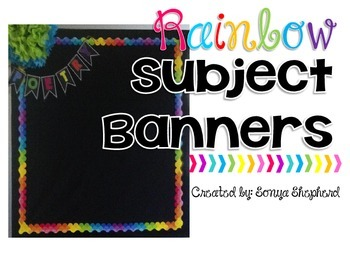 Subject Display Pennants