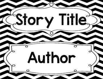 Subject Focus Wall Header Title Cards for Bulletin Boards in Black & White Theme