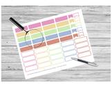 Subject Header Stickers PRINTABLE for Teacher Planner