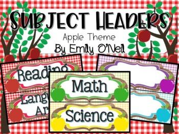 Subject Headers