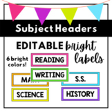 Subject Headers {BRIGHT colors}