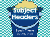Subject Headers (Beach Theme)