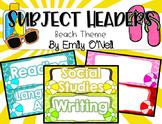 Subject Headers (Beach Theme)