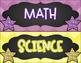 Subject Headers (Colorful Chevron & Chalkboard Theme)