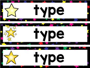 Star Themed Subject Headers Editable