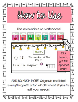 Subject Headers/Labels (100+ STYLES!) ♥ Focus Wall, Labelling + More! ♥