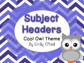 Subject Headers (Owl Theme)