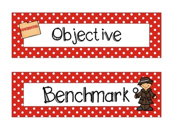 Detective/Mystery/Spy - Subject Headers/Signs {Classroom Theme}